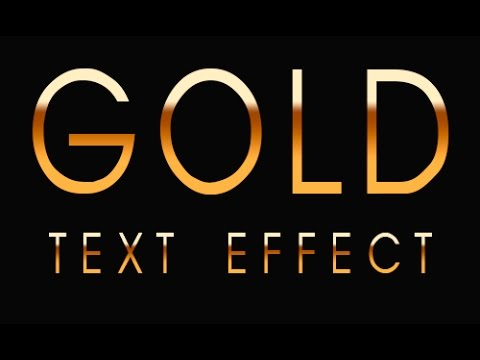 How to Make Gold Text in Photoshop