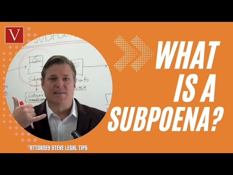 Subpoena process explained by Attorney Steve!
