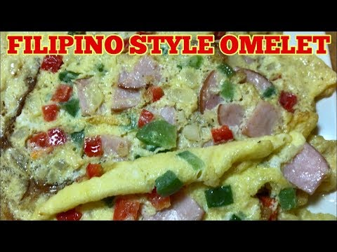 Filipino Style Omelette Recipe For Dinner - Tortang Giniling Recipe
