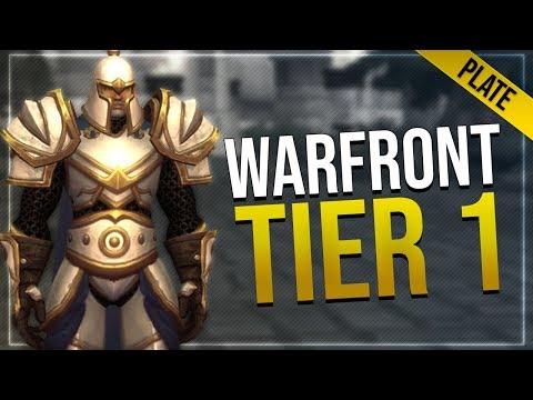 Warfront Tier 1 Plate Armor & Weapons   All Races   Battle for Azeroth!