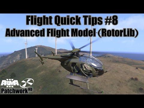 Advanced Flight Model (RotorLib) - Flight Quick Tips #8 (Arma 3 Helicopter Tutorial) [60FPS]