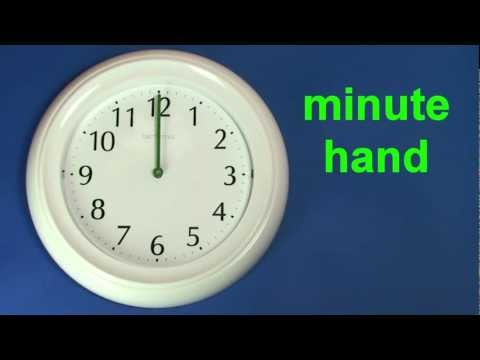 Learn to tell the Time - English vocabulary education ESL 1 to 6 o'clock