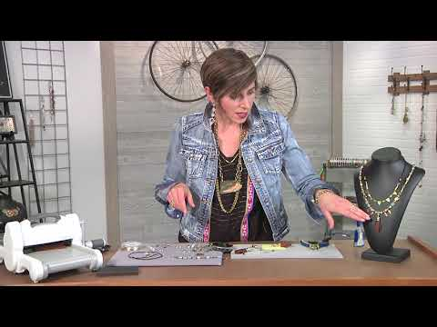 Make a geometric bohemian style necklace on Beads, Baubles and Jewels with Candie Cooper (2613-3)