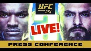 UFC 251 Post-Fight Press Conference: Kamaru Usman vs Jorge Masvidal    LIVE