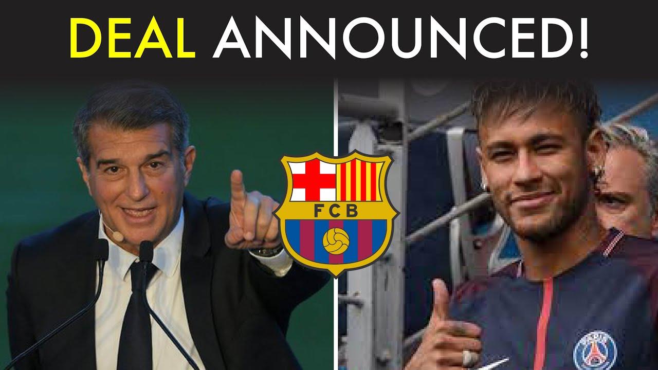 Barcelona and Neymar Officially Sign a Deal!