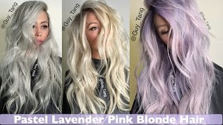 Pastel Lavender Pink Blonde Hair Make Over
