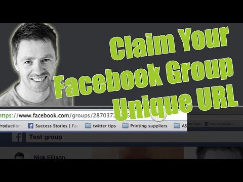 How to claim a unique URL for a Facebook group