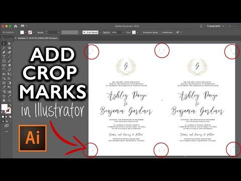 How to add trim / crop marks in Adobe illustrator, 2 up | DIY Wedding Invitations, graphic design