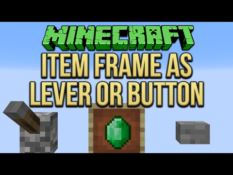 Minecraft: Item Frame As Lever Or Button Tutorial