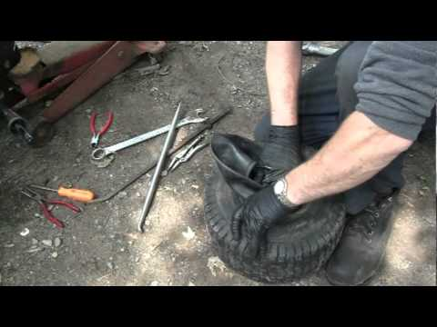 How to put an innertube in a tire.mp4