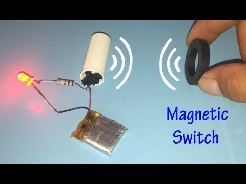 Experiment magnetic switch , Homemade magnet controlling on / off switch
