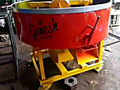 Pan Mixer for Quality cement  mixingMixer Muller Machine For Fly Ash Brick [9814050525/9814545545]