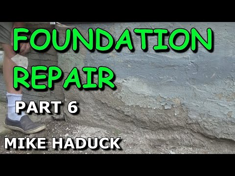 How I patch or fix up a foundation (part 6 of 6) Mike Haduck