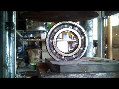 Crushing bearing with homemade press