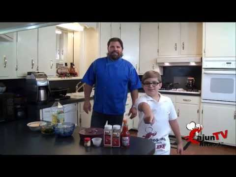 Cooking With Kade & Chef Paul   Blackened Shrimp Tacos with Roasted Poblano Sauce