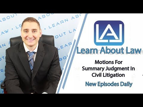 Motions For Summary Judgment In Civil Litigation | Illinois Litigation