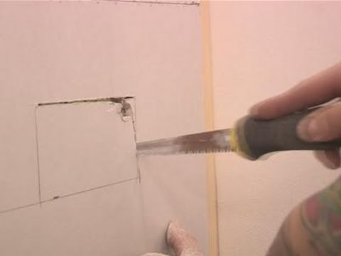How To Cut Square Hole In Drywall