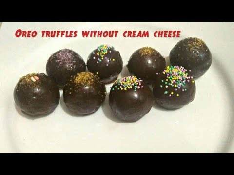 Oreo Truffles Recipe. Oreo Truffles without cream cheese