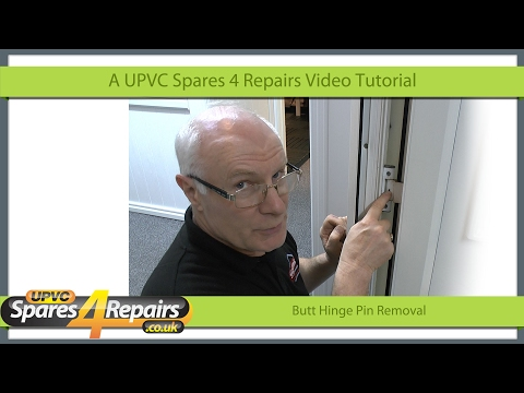 Butt Hinge Pin Removal From a Upvc Door