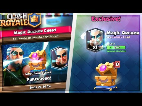 BUYING ALL 9 MAGIC ARCHER CHEST!! NEW SPECIAL LEGENDARY CHEST! Clash Royale Magic Archer Gemming!