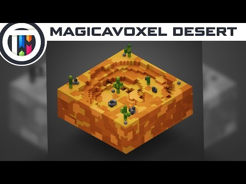 MagicaVoxel Tutorial - How to make a Voxel Desert