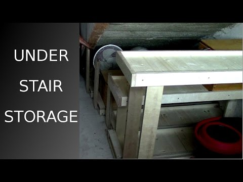 ᐉ DIY under stair storage