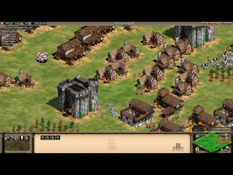 Age of Empires II - Britons Vs Teutons 1v1 Deathmatch