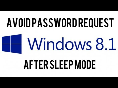 Windows 8.1: Avoid Password Request After Sleep Mode