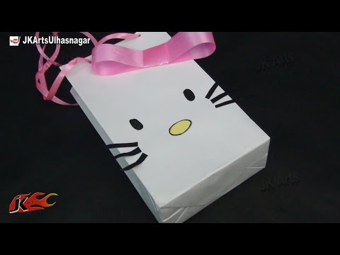 DIY Hello Kitty Paper Bag | How to make | JK Arts 736