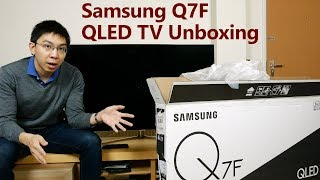 """Samsung 49"""" Q7F QLED TV Unboxing + Picture Settings"""