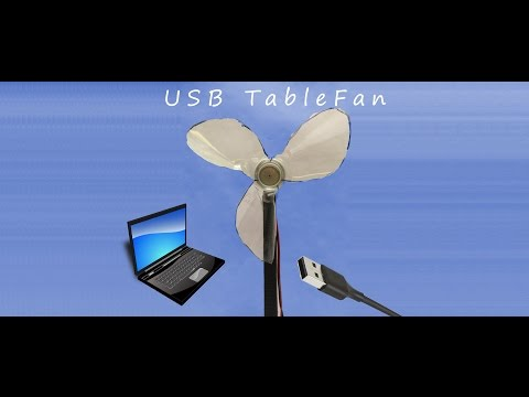 How to Make a USB Table Fan