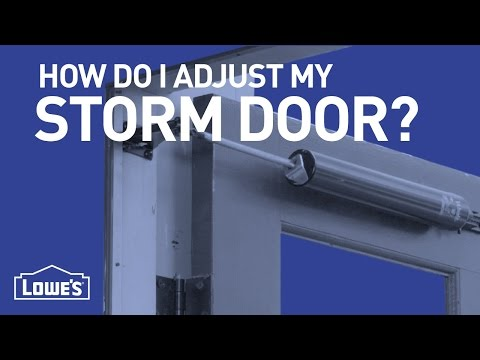 How Do I Adjust My Storm Door? | DIY Basics