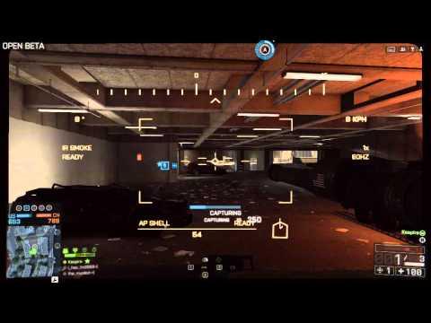 PC Battlefield 4 Beta - Tank Gameplay (2x Heli Down) - HD 7850 Crossfire 1080p Ultra