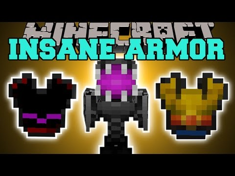 Minecraft: OVERPOWERED ARMOR (SURVIVE THE VOID, TONS OF HEALTH, & MORE!) Mod Showcase