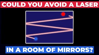 Could you avoid being hit by a laser if you were in a room of mirrors?