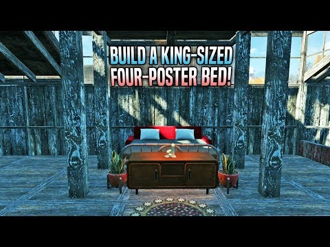 How to Build a King-Sized Four-Poster Bed 🛌 Fallout 4 No Mods Shop Class