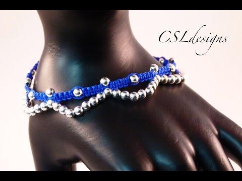 Easy macrame anklet/bracelet