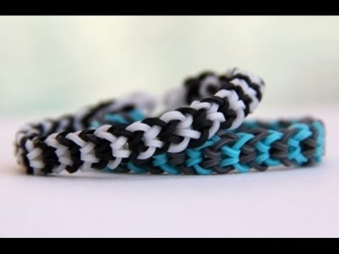 Rainbow Loom Nederlands Inverted Fishtail Bracelet - Armband - Loom bands