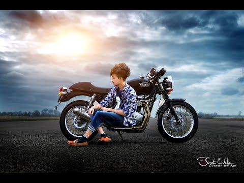 Easy Background change photo Edit Adobe photoshop 7.0 tutorial