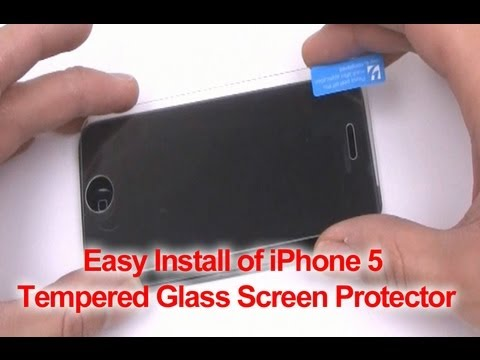 How to Put Tempered Glass Screen Protector iPhone 5