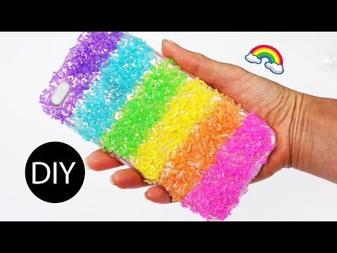 5-minute Crafts: Rainbow/Dragon Scale Phone Case/What to Do With Leaf-over Loom Bands