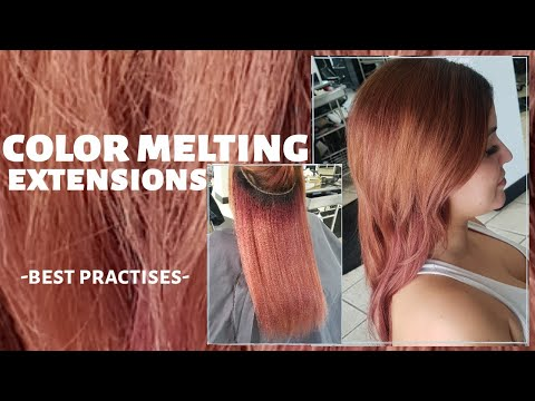 how to do a COLOR MELT with extensions