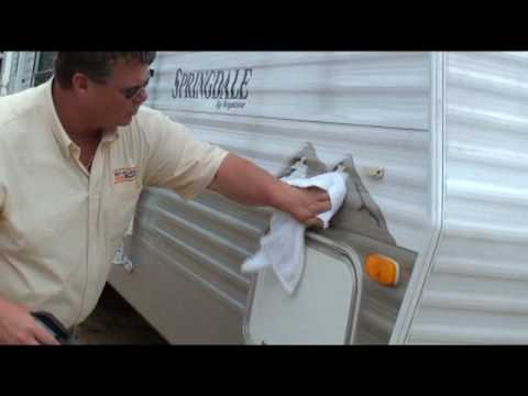Remove Black Streaks from RV Camper Exterior and Vinyl Decals with Bio Kleen Black Streak Remover