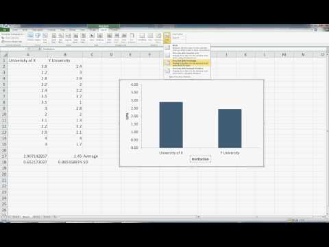 Excel for Statistics 9--Graphing