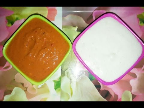 Momos Red and White sauces