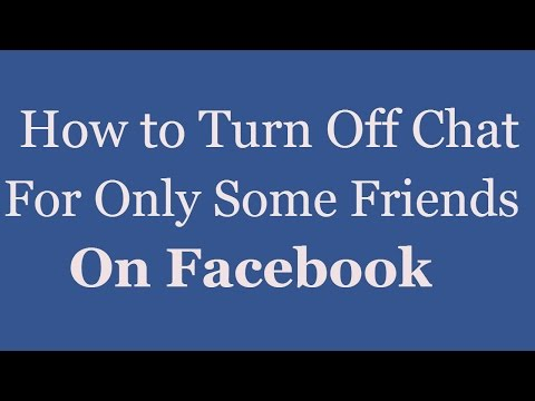 How to Turn Off Chat For Only Some Friends On Facebook 2016 | Facebook Chat Setting[ 2016]