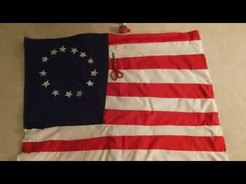 How to hand sew the Betsy Ross US flag. (Jack Blackwell's personal project 2018)
