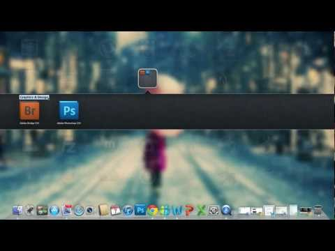 How to create a new folder in Launchpad In os x Lion