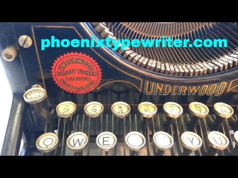 Underwood 5 Typewriter Restore Repair Rework Works Great Vintage Antique
