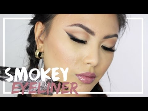 How to: Easy Smokey Winged Eyeliner makeup tutorial for hooded eyes